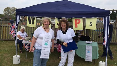 The third annual Weeting Village Fayre. Picture are Brenda Willison and Clare Bryant from the Weetin