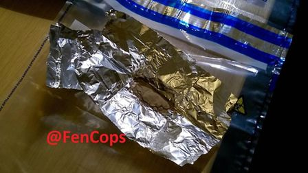 Suspected class A and B drugs were found in a car that was stopped by officers in Wisbech last night