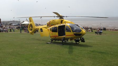 Air ambulance arrives after incident in Hunstanton_Picture.submitted