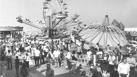 Yarmouth in the 80s - Pleasure BeachCrowds flock to the Pleasure Beach at Great Yarmouth.Dated Se