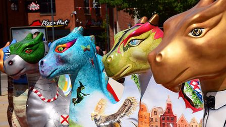 The GoGoDragons! trail took place in 2015 in Norwich. Picture: DENISE BRADLEY