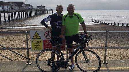 Ben Jackson and David Woodgate will be taking part in the Chase the Rising Sun bike ride event to ra