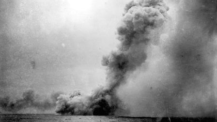 HMS Queen Mary being destroyed during the Battle of Jutland. Picture: : The National Museum of the R