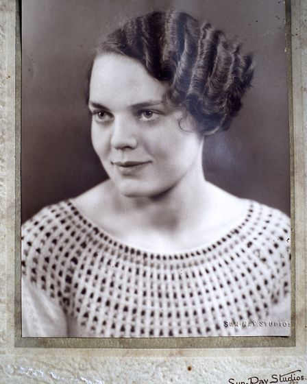 Trudy Raven pictured aged 17 in 1933.