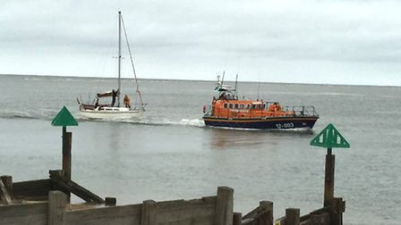 The Corumba baing towed tinto Wells. Picture: RNLI