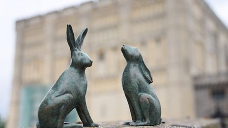 Break charity reveal two of the sculptures of hares which will be the next GoGotrail. The GoGoHares