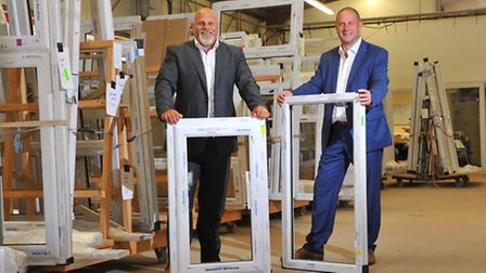 Andy Springhall and Mark Falgate of expanding Norfolk glazing firm Anglian First who are based in Le