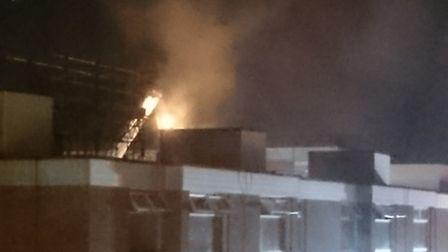 Hillington Square flat fire: Pictures submitted
