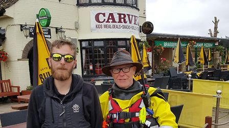 Members of staff from the Ferry Inn at Horning and from Norfolk Lowland Search and Rescue take part