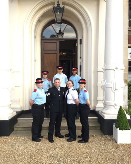 Eden King from Thetford was escorted to her school prom at Lynford Hall by the Thetford Police Cadet
