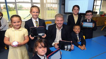 Samsung Electronics announces the launch of it's new digital classroom in Peterhouse Primary School,