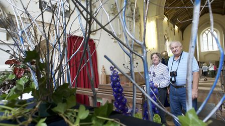 Shakespeare themed flower festival and open crypt at St Margaret's Church in Felbrigg. Pictured are
