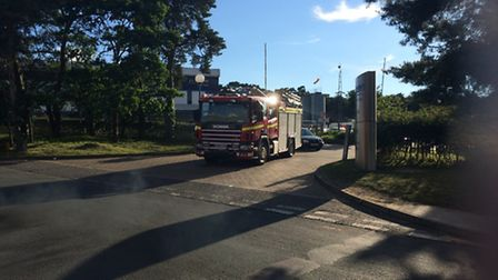 The scene after the fire at the 2 Sisters Food Group in Thetford