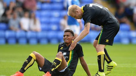 Josh Murphy scored the opener for Norwich City at Peterborough. Picture by Richard Blaxall/Focus Ima