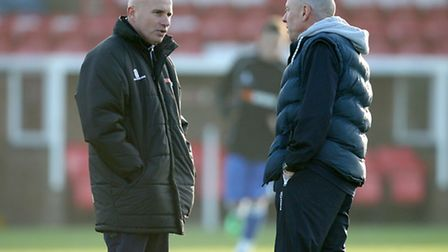 Ady Gallagher and Micky Chapman during their time as joint bosses at Lowestoft Town.