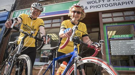 Ivan and Maureen Wolfe are doing a 100 mile charity cycle ride to raise money for Rays of Sunshine.