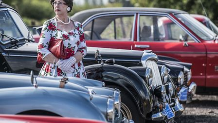 Classic cars take part in the King's Lynn and District Motor Club's Annual Classic Car Rally 2016 fr
