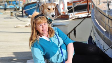 Cath Pickles adopted a Lurcher, Worzel, when his previous owner felt Worzel would do better in a hou