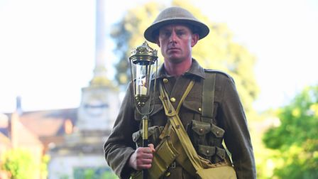 A memorial service was held in the Tower Gardens in Kings Lynn to mark the centenary of the Battle o