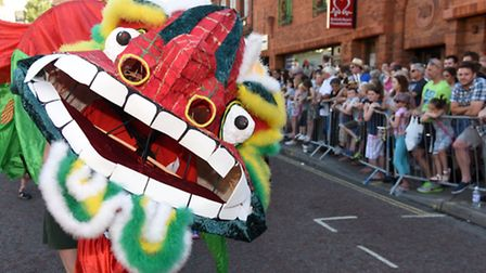 Lord Mayor's Celebrations 2015 procession passing through Norwich. Photo : Steve Adams