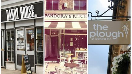 Comfort food in Norwich: Dandy Horse, Pandora's Kitchen and The Plough. (L-R)
