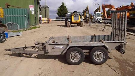 A trailer, similar to the one which was stolen from Justin Henry in Wymondham