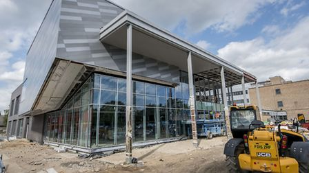 Work continues on the new University Centre at the College of West Anglia in King's Lynn. Picture: M