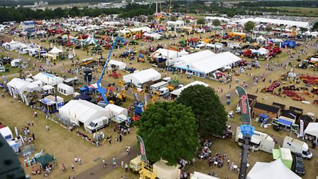 Aerial views of the Royal Norfolk Show 2015. Picture: DENISE BRADLEY