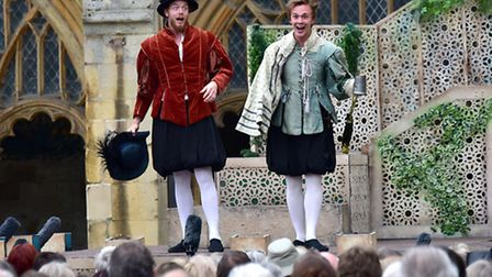Twelfth Night being performed at Norwich Cathedral.Picture: ANTONY KELLY