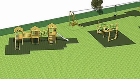 An artist's impression of the new play equipment. Picture: Submitted