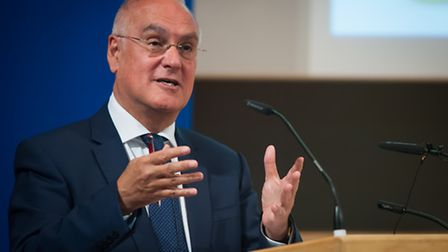 Sir Michael Wilshaw, head of Ofsted, speaking at the Norfolk headteacher conference in 2014. Photo: