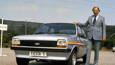 Birth of a best-seller: Henry Ford II and with the new Ford Fiesta in 1976.