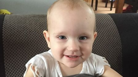 Kara Elwood, two, whose parents are taking part in a charity walk for Diabetes UK.