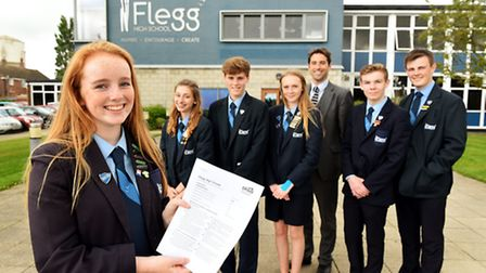 Flegg High School who have recently had a good Ofsted report.Head Girl Isabelle Haddow and the Stude