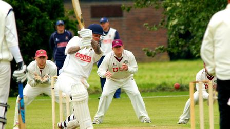 Ashley Watson on his way to a half-century in Norfolks rain-affected three-day draw at Cambs in May.