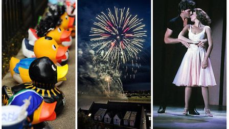 What's on in Norfolk - From left to right: The Great Norwich Duck Race, Festival Too in King's Lynn