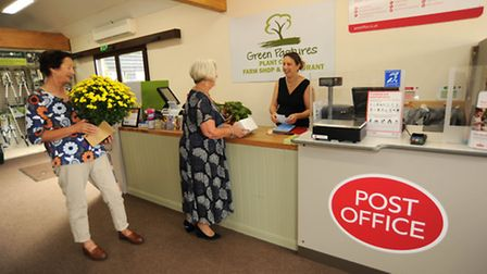 The new Post Office at Green Pastures Plant Centre and Farm Shop in Bergh Apton, which is open seven