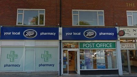 Boots Pharmacy and Post Office, Colman Road, Norwich. Photo: Google