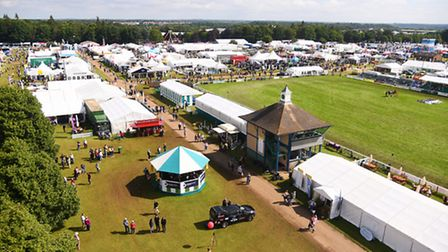 A view of the Grand ring from Carter's crane, on day two of the Royal Norfolk Show. Picture: Ian Bur