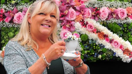 Royal Norfolk Show 2016Kay Morgan, Mature Level 3 Student in Floristry at Easton and Otley College a