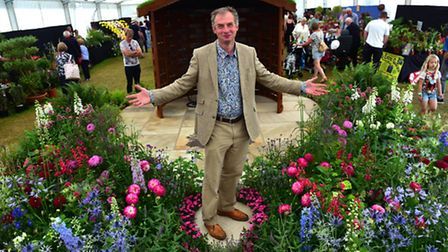 Royal Norfolk Show 2016Paul Welford with his prize winning garden, Evolution.
