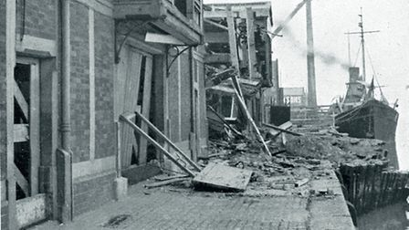 IN 1941 the site was badly damaged in an air raid.