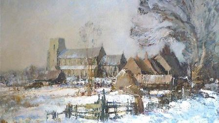 A painting of Ludham Church by Edward Seago is up for sale for £95,000.