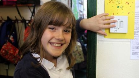 Ten-year-old Sheringham Primary School Eco Club member Holly, who came up with the idea of saving en