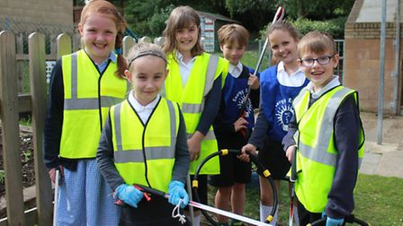 Sheringham Primary School Eco Club members, who have received a £250 Total Green School award for th