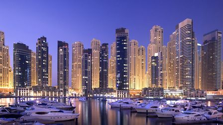 Dubai Marina. Many Britons have moved to the Middle East to pursue their careers.Picture: PA