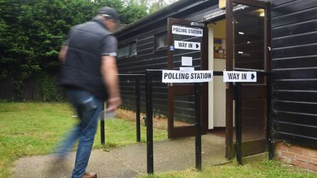 A voter enters the Polling Station in North Wootton. Picture: Ian Burt