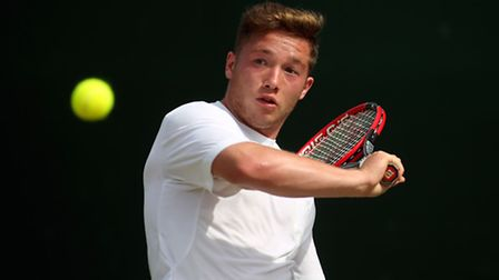 Alfie Hewett pictured in action at Wimbledon. Picture: Steve Paston/PA Wire