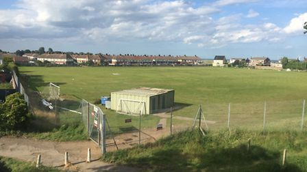 Barnard Bridge playing field after travellers left the Yarmouth site