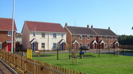 The Lodge Close 33-home development at Holt which was commended in the North Norfolk District Counci